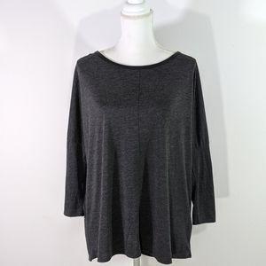 Zara W&B Collection Heather Black Tunic